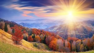 Sunrise,reveil,paisible