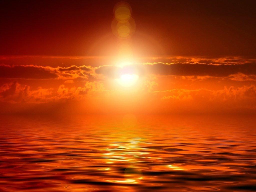 sunset, journee, amour