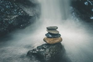 stones, point, ancrage
