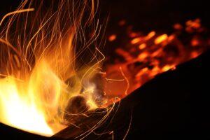 un feu vif